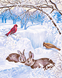 Nature in Winter I Posters by Vivien Rhyan