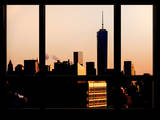 The One World Trade Center (1WTC) at Sunset -Manhattan - New York, USA Photographic Print by Philippe Hugonnard