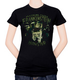 Juniors: Universal Monsters - Fearsome Faces of Frank T-shirts