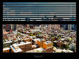 Window View with Venetian Blinds: Theater District View - Times Square Photographic Print by Philippe Hugonnard