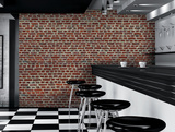 Red Brick Wall Giant Papier peint Mural Papier peint