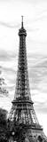 Eiffel Tower, Paris, France - Black and White Photography Photographic Print by Philippe Hugonnard