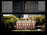 Window View with Venetian Blinds: Independence Hall and Pennsylvania State House Photographic Print by Philippe Hugonnard