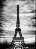 Instants of Paris B&W Series - Eiffel Tower, Paris, France Photographic Print by Philippe Hugonnard