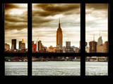 Cityscape Midtown Manhattan with the Empire State Building at Sunset Photographic Print by Philippe Hugonnard