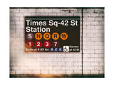 Subway Times Square - 42 Street Station - Subway Sign - Manhattan, New York City, USA Impression giclée par Philippe Hugonnard