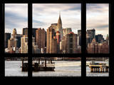 Cityscape with the Chrysler Building of Midtown Manhattan - NYC New York, USA Photographic Print by Philippe Hugonnard