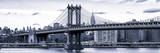 Panoramic Landscape - Manhattan Bridge with the Empire State Building from Brooklyn Photographic Print by Philippe Hugonnard