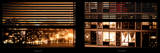 Window View with Venetian Blinds: Neighborhoods in Manhattan by Night - Hudson River Photographic Print by Philippe Hugonnard