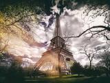 Instants of Series - Eiffel Tower - Paris, France Fotografisk tryk af Philippe Hugonnard
