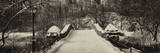 Panoramic View - Snowy Gapstow Bridge of Central Park, Manhattan in New York City Photographic Print by Philippe Hugonnard