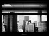 Window View with Venetian Blinds: Lower Manhattan Buildings - New York Photographic Print by Philippe Hugonnard