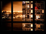 Neighborhoods in Manhattan by Night - Hudson River - New York City - United States - USA Photographic Print by Philippe Hugonnard