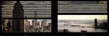 Window View with Venetian Blinds: Panoramic Format Photographic Print by Philippe Hugonnard