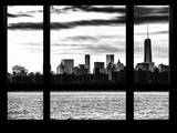 Cityscape with the One World Trade Center (1WTC) at Nightfall - Manhattan, New York City, USA Photographic Print by Philippe Hugonnard