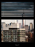 Window View with Venetian Blinds: Architecture and Buildings Photographic Print by Philippe Hugonnard