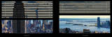 Window View with Venetian Blinds: Manhattan with Empire State Building Photographic Print by Philippe Hugonnard