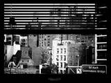 Window View with Venetian Blinds: Queensboro Bridge Sign Photographic Print by Philippe Hugonnard