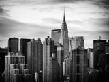 Skyline with a Top of the Chrysler Building at Sunset Photographic Print by Philippe Hugonnard