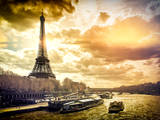 Instants of Series - Eiffel Tower and Seine River Views - Paris, France Photographic Print by Philippe Hugonnard