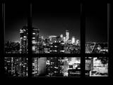 View with the One World Trade Center (1WTC) by Night - Manhattan, New York, USA Photographic Print by Philippe Hugonnard