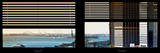 Window View with Venetian Blinds: South Street Seaport View with Statue of Liberty Photographic Print by Philippe Hugonnard