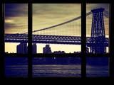 The Williamsburg Bridge at Nightfall - Lower East Side of Manhattan - Brooklyn, New York, USA Photographic Print by Philippe Hugonnard