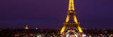 Panoramic Cityscape Paris with Eiffel Tower at Night Lámina fotográfica por Philippe Hugonnard