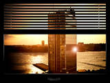 Window View with Venetian Blinds: Buildings Sunset View - Meatpacking District Photographic Print by Philippe Hugonnard