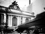 Vintage Black and White Series - Grand Central Station - 42nd Street Sign - Manhattan, New York Photographic Print by Philippe Hugonnard