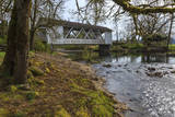 USA, Oregon, Larwood Wayside, Larwood Bridge in early Spring. Photographic Print by Rick A. Brown