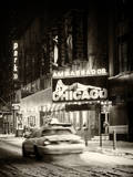 Chicago the Musical - Ambassador Theatre by Winter Night at Times Square Photographic Print by Philippe Hugonnard