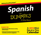 Spanish for Dummies - 2015 Mini Day-at-a-Time Box Calendar Calendars