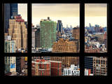 Cityscape with the New Yorker Hotel at Sunset - Manhattan, New York City, USA Photographic Print by Philippe Hugonnard