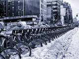 Urban Scene with NYC Citibike in Winter Photographic Print by Philippe Hugonnard