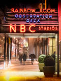 Instants of NY Series - the NBC Studios in the New York City in the Snow at Night Photographic Print by Philippe Hugonnard