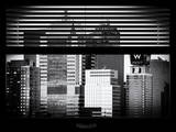 Window View with Venetian Blinds: W Hotel NYC at Times Square - Manhattan Photographic Print by Philippe Hugonnard