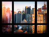 Times Square Buildings at Sunset - Manhattan, New York, USA Photographic Print by Philippe Hugonnard