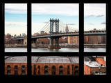 Manhattan Bridge with the Empire State Building - New York, USA Photographic Print by Philippe Hugonnard