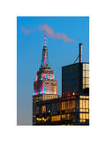 Top of Empire State Building at Nightfall Photographic Print by Philippe Hugonnard
