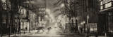 Street Scenes and Urban Night Panoramic Landscape in Winter under the Snow Photographic Print by Philippe Hugonnard