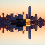 Double Sided Series - NYC Cityscape with the One World Trade Center (1WTC) at Sunset Photographic Print by Philippe Hugonnard