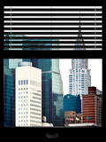 Window View with Venetian Blinds: View of the Top of the Chrysler Building Photographic Print by Philippe Hugonnard