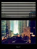 Window View with Venetian Blinds: Landscape by Misty Night Photographic Print by Philippe Hugonnard