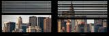 Window View with Venetian Blinds: Skyscrapers and Buildings with the Chrysler Building at Manhattan Photographic Print by Philippe Hugonnard
