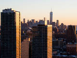 NYC Skyline at Sunset with the One World Trade Center (1WTC) Photographic Print by Philippe Hugonnard