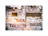 Instants of NY Series - Motorcycle Wall Photographic Print by Philippe Hugonnard