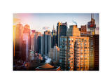 Architecture and Buildings View of Times Square at Sunset Photographic Print by Philippe Hugonnard
