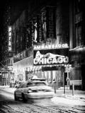 Chicago the Musical - Ambassador Theatre by Winter Night at Times Square Papier Photo par Philippe Hugonnard