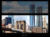Window View with Venetian Blinds: New York City with One World Trade Center Photographie par Philippe Hugonnard